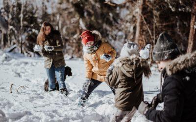Rodzinna zimowa sesja zdjęciowa w górach